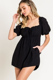 Lush Puff Sleeve Romper - Side cropped