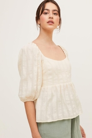 Lush Puff Sleeve Top - Front full body