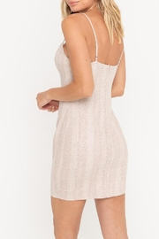 Lush Python Suede Bodycon-Dress - Front full body