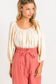Lush Raglan Balloon-Sleeve Blouse - Product Mini Image