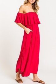 Lush Red Off-Shoulder Jumpsuit - Product Mini Image