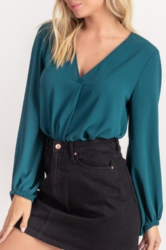 Lush Relaxed V-Neck Blouse - Product List Image