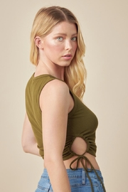 Lush Ribbed Crop Top - Front full body