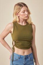 Lush Ribbed Crop Top - Front cropped