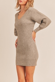 Lush Ribbed Sweater Dress - Side cropped