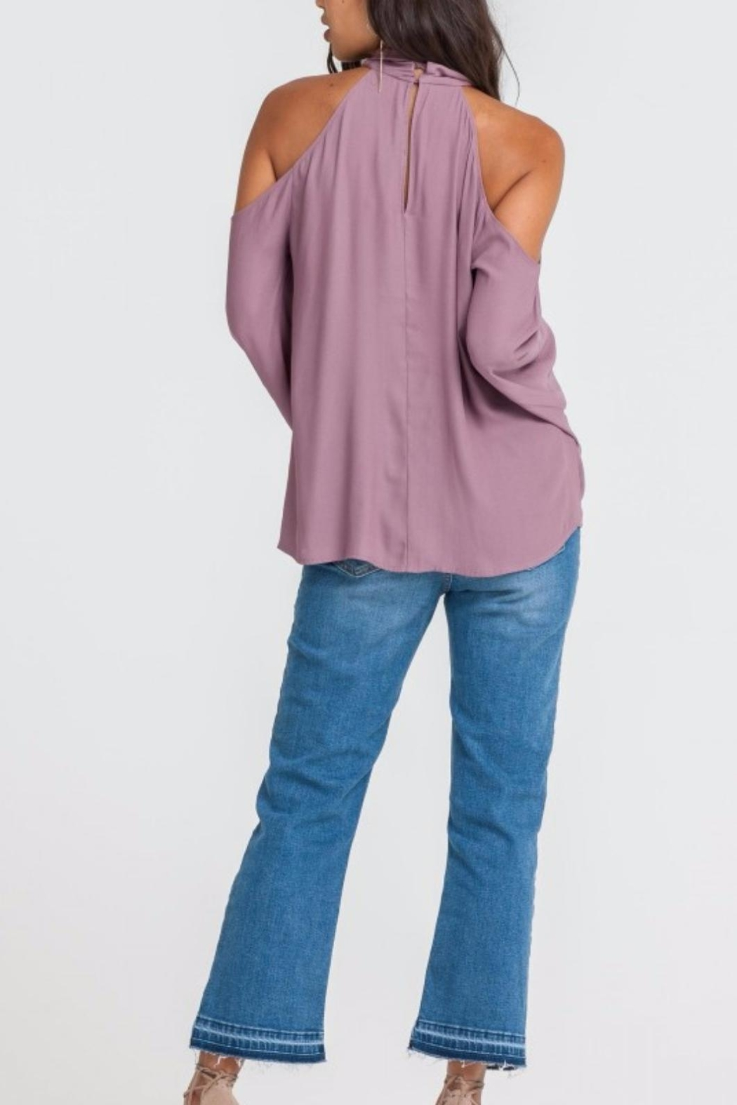 Lush Romantic Flow Top - Back Cropped Image