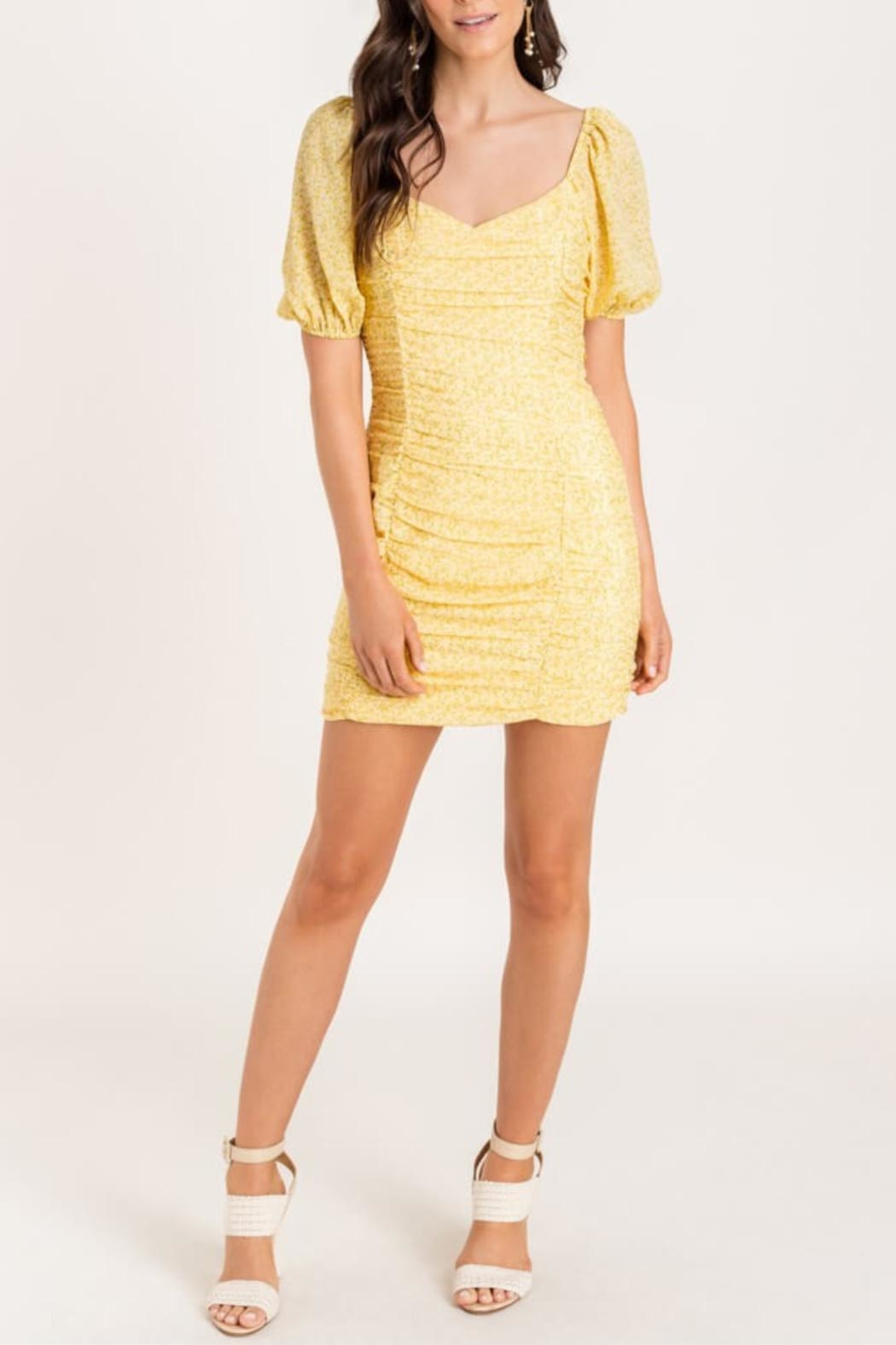 Lush Ruch Right-In Dress - Main Image