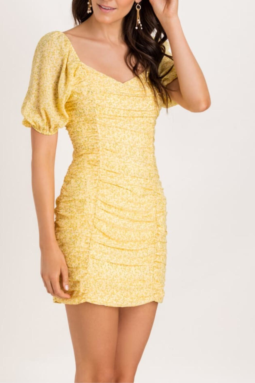 Lush Ruch Right-In Dress - Front Full Image