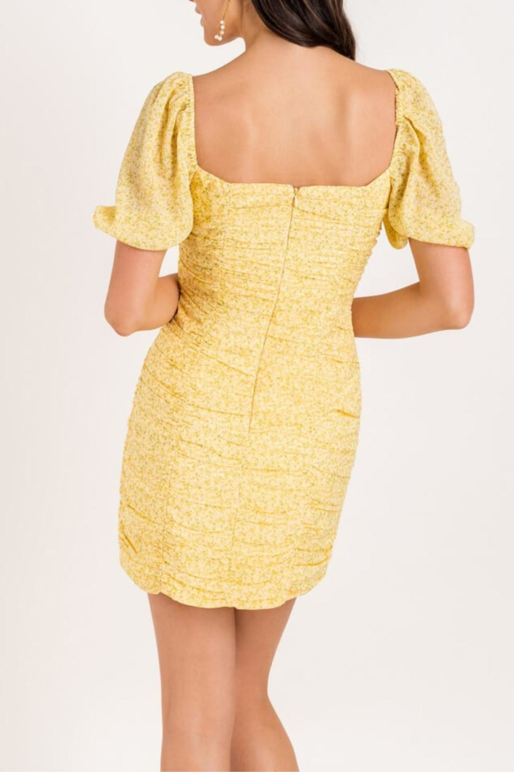 Lush Ruch Right-In Dress - Side Cropped Image