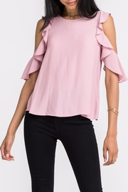 Lush Ruffle Cold-Shoulder Top - Front cropped