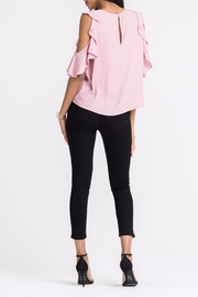 Lush Ruffle Cold-Shoulder Top - Side cropped