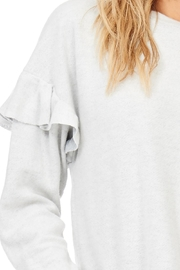 Lush Ruffle Detail Sweatshirt - Other