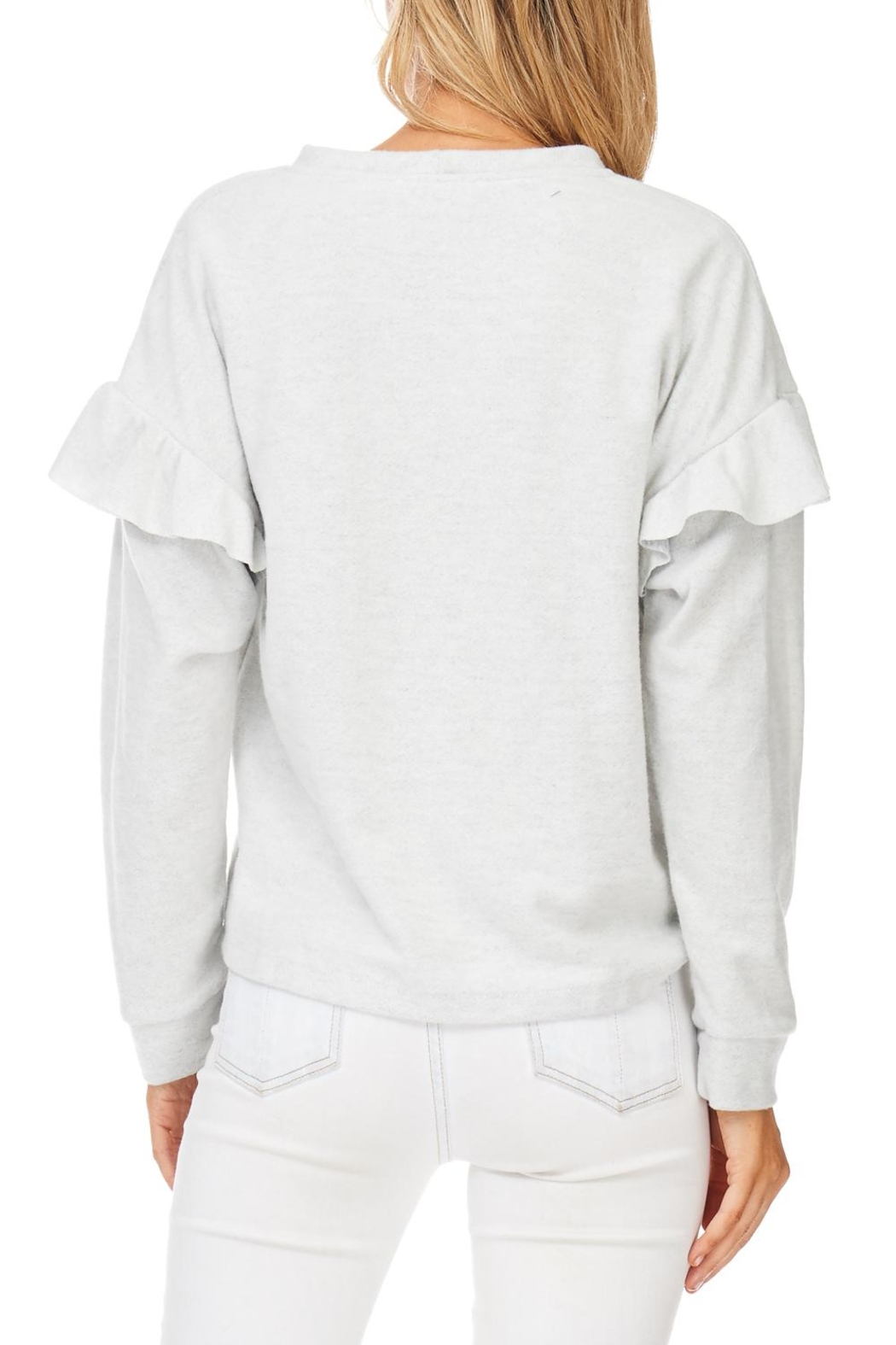 Lush Ruffle Detail Sweatshirt - Side Cropped Image