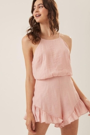 Lush Ruffle Halter Cocktail Romper - Side cropped