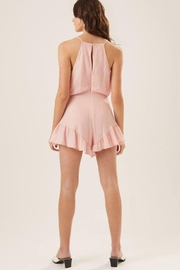 Lush Ruffle Halter Cocktail Romper - Back cropped