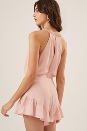 Lush Ruffle Halter Cocktail Romper - Other