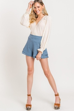 Lush Ruffle High-Waist Shorts - Alternate List Image