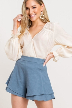 Lush Ruffle High-Waist Shorts - Product List Image