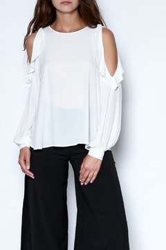Shoptiques Product: Ruffle Long Sleeve Blouse