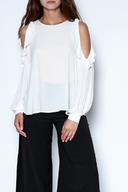 Lush Ruffle Long Sleeve Blouse - Product Mini Image