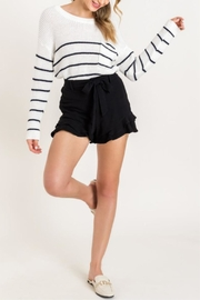 Lush Ruffle Some Feathers Shorts - Front cropped