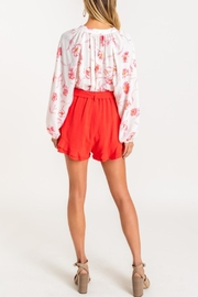 Lush Ruffle Some Feathers Shorts - Front full body
