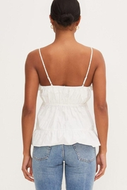 Lush Ruffle Tank Top - Front full body