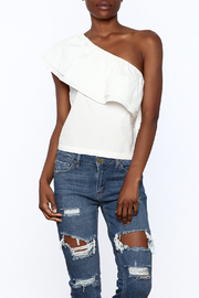 Lush White One Shoulder Top - Product Mini Image