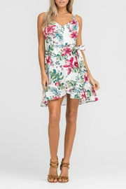 Lush Ruffle Wrap Dress - Product Mini Image
