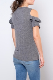 Lush Ruffled Cold Shoulder Top - Side cropped