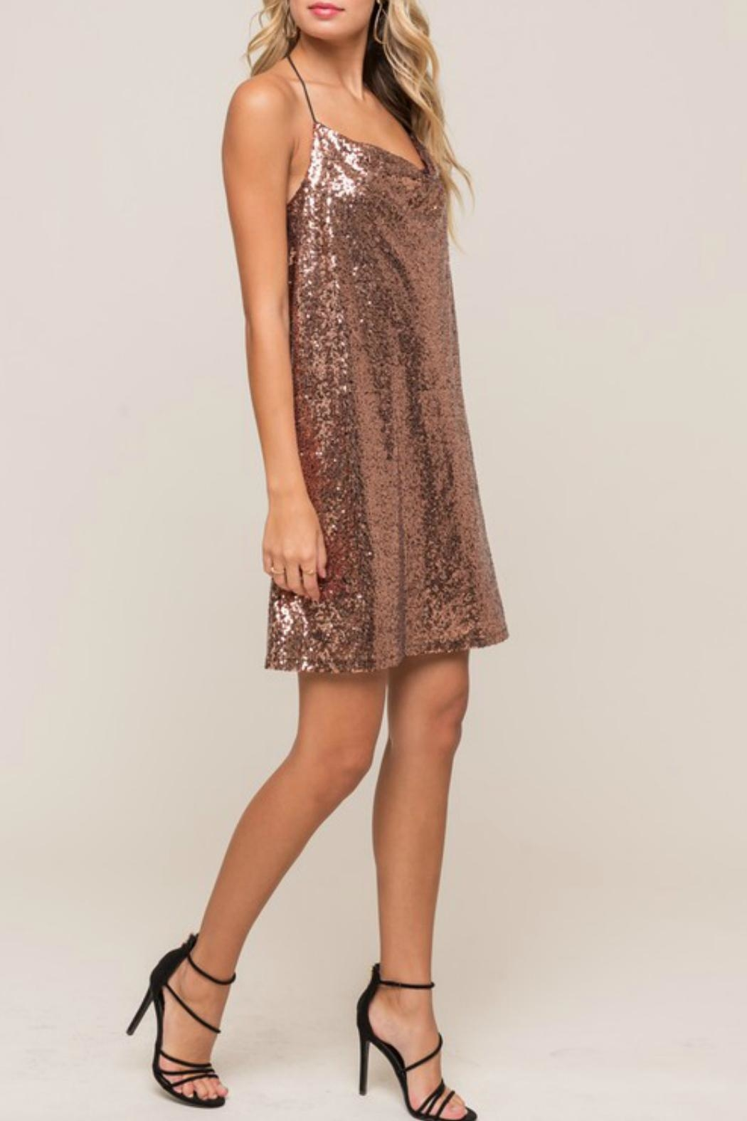 Lush Sequin Cami Shift-Dress - Side Cropped Image