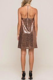 Lush Sequin Cami Shift-Dress - Front full body