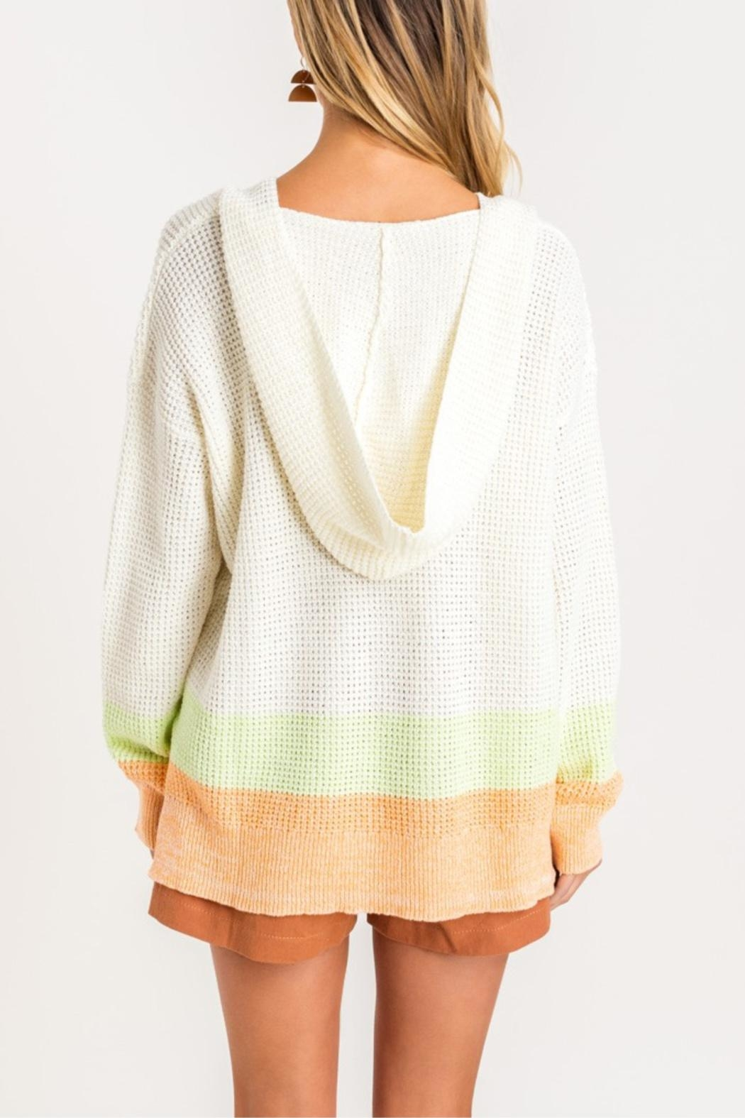 Lush Sherbert Dreams Sweater - Side Cropped Image