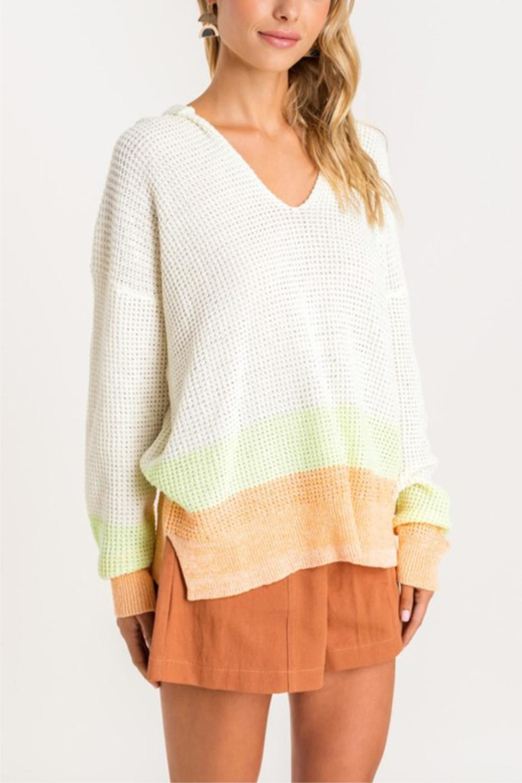 Lush Sherbert Dreams Sweater - Back Cropped Image