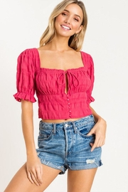 Lush Shirred Crop Top - Product Mini Image