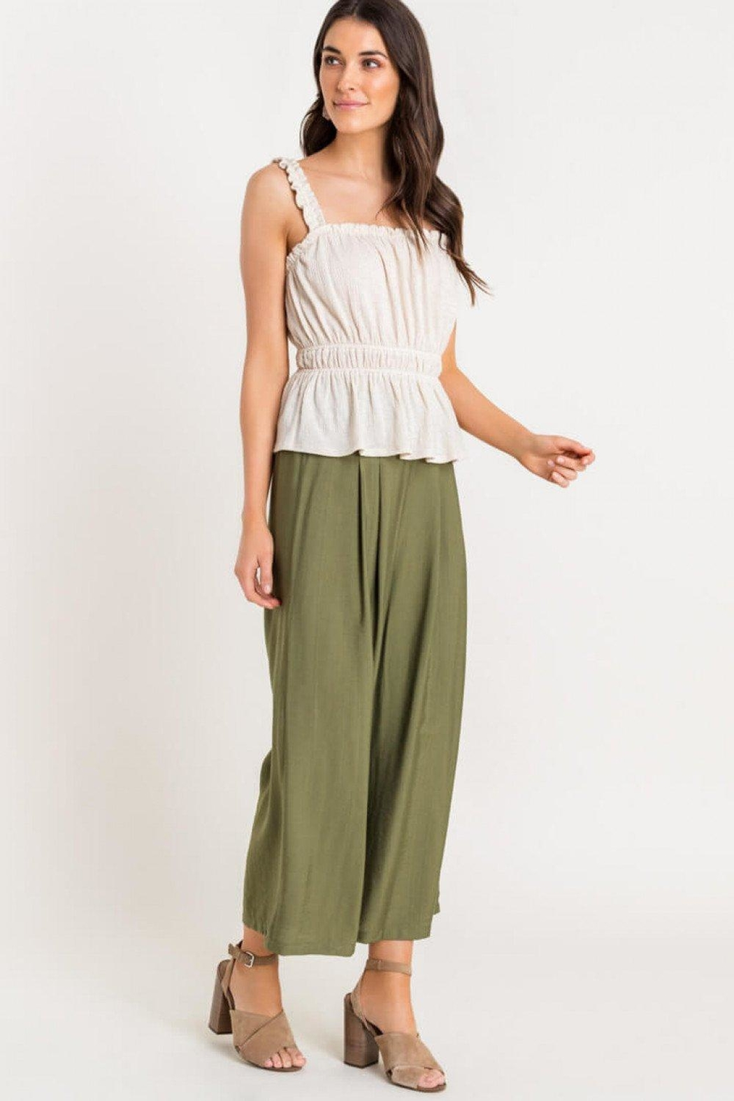Lush Shirred Frill Top - Side Cropped Image