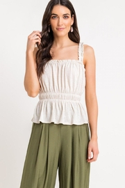Lush Shirred Frill Top - Product Mini Image