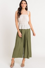 Lush Shirred Frill Top - Front full body