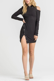 Lush Side Button Dress - Front full body