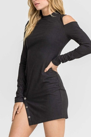 Lush Side Button Dress - Side cropped