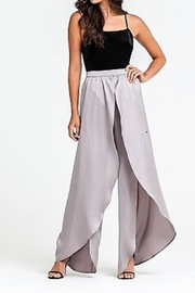 Lush Silver Satin Pants - Product Mini Image