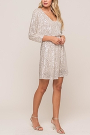 Lush Silver Sequin Mini-Dress - Product Mini Image