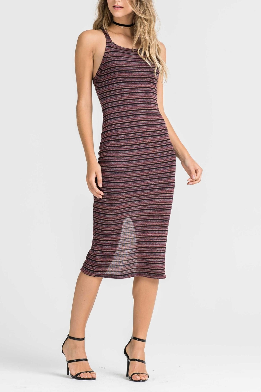 Lush Striped Tank Dress - Main Image