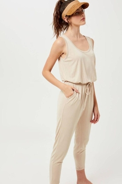Lush Sleeveless Jumpsuit With Drawstring - Product List Image