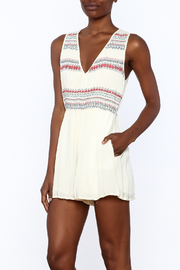 Lush Sleeveless Embroidered Romper - Product Mini Image