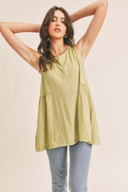 Lush Sleeveless Ruffle Tank - Product Mini Image