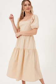 Lush Smocked Maxi Poplin Dress - Product Mini Image