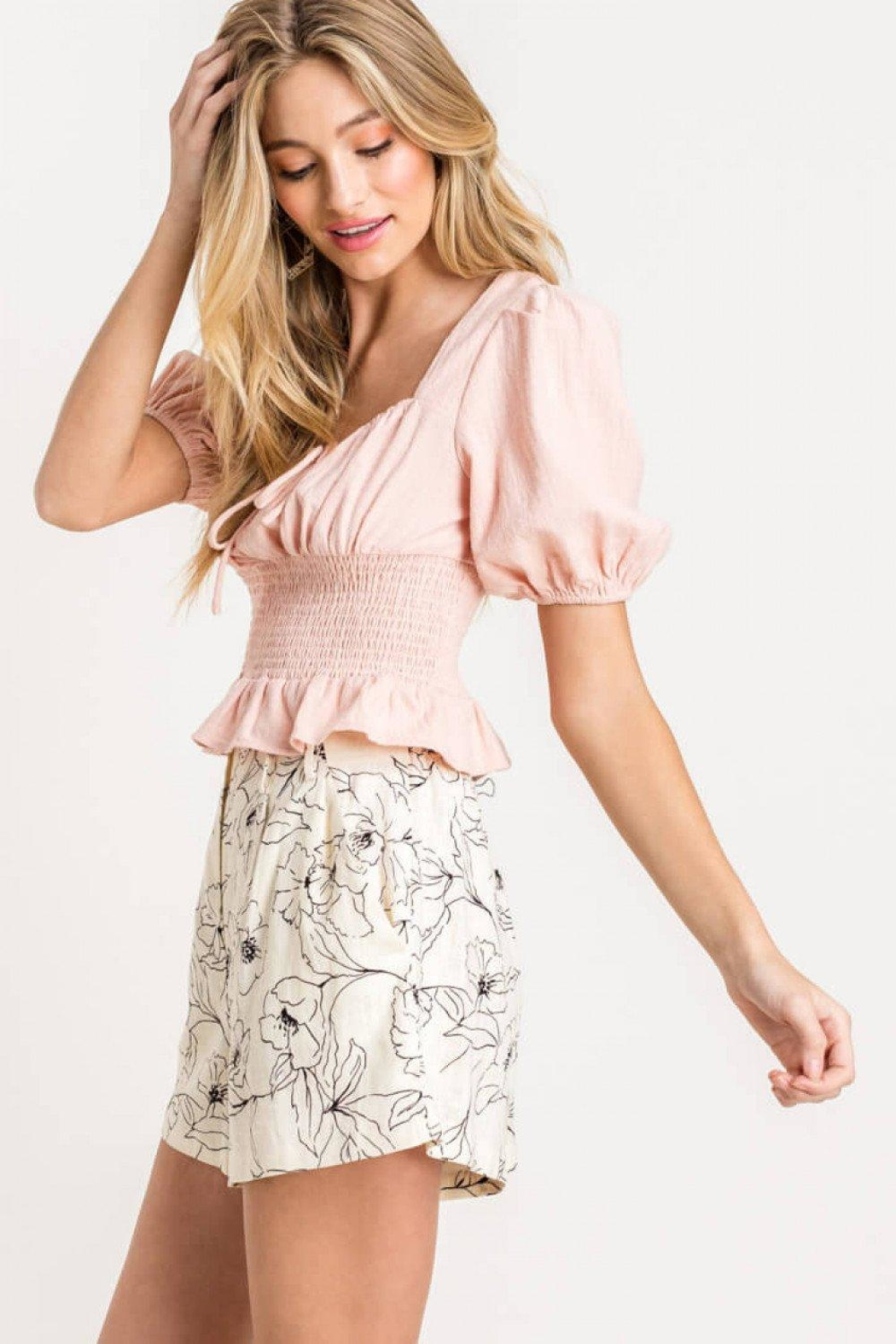 Lush Smocked Sweetheart Top - Side Cropped Image