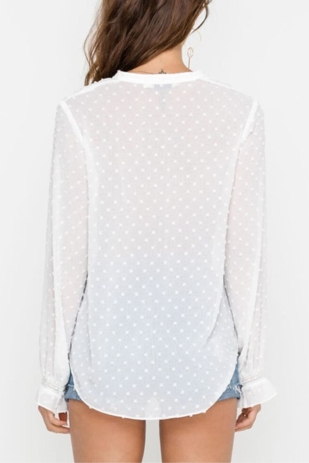 Lush Snow Fall Blouse - Side Cropped Image