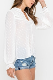Lush Snow Fall Blouse - Back cropped